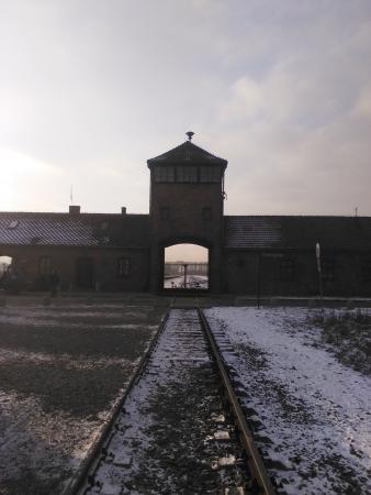 Krakow Tours by Point Travel DMC : The infamous entrance to Birkenau