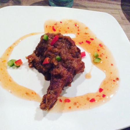 Kaya Malay Bistro: Rack of Lamb with Malaysian Style Kim Heong Sauce