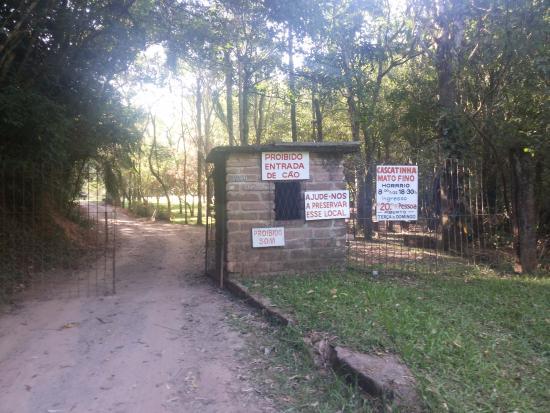 Gravatai, RS: Local de chegada do balneário Cascatinha