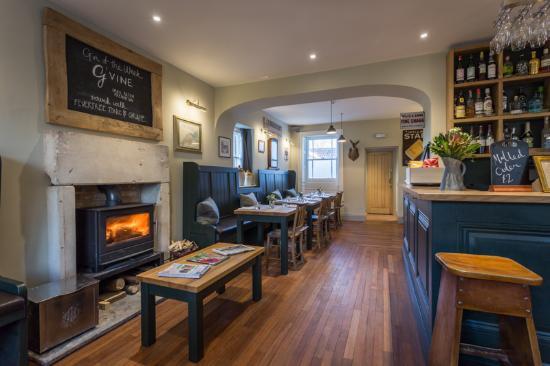 Radstock, UK: Cosy log burner