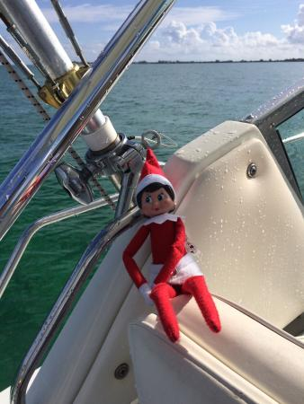 Sail With Friends Cayman: Our SKEERY ELF enjoying the Witchie Poo