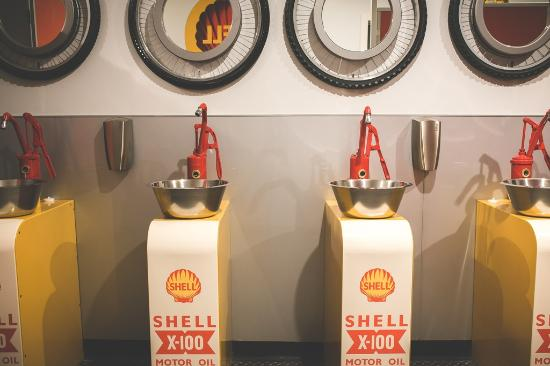 Invercargill, Nya Zeeland: Shell themed rest room