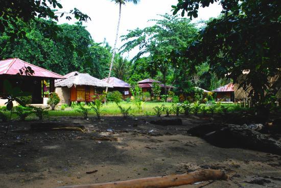 Lorenso Cottages Beach Garden: Blick auf die Anlage vom Mangroven Strand