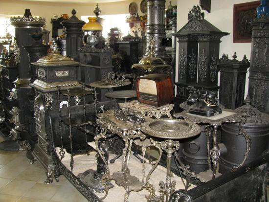 Gyenesdias, Hungary: Antique stove exhibition