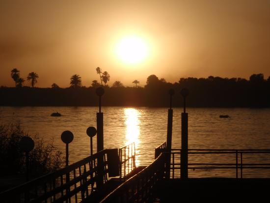 Maritim Jolie Ville Kings Island Luxor: Sun set of the Nile