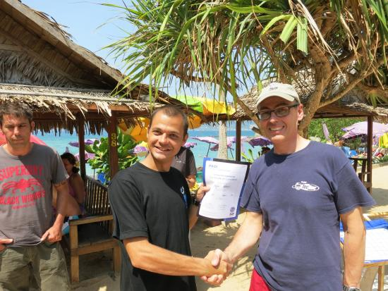 Indepth Dive College : PADI Instructor Course student