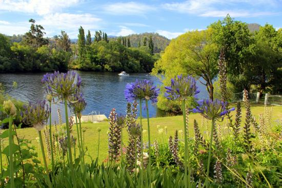 New Norfolk, Australië: Woodbridge garden and river