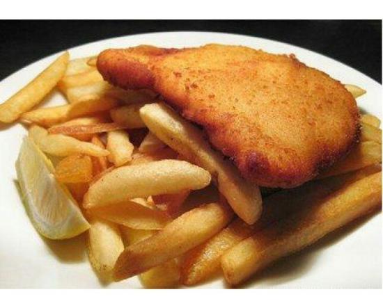 Chicken schnitzel chips foto di jj 39 s fish chips ho for Jj fish n chicken