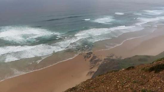 Vila do Bispo, البرتغال: Praia da Cordoama - vista do miradouro