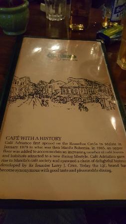카페 아드리안티코 말라테에서 즐길수 있는 맛집 중 하나 특히 스파게티가 별미!!!