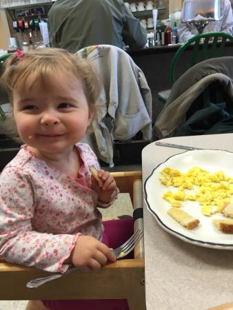 Flemington, NJ: Isabel likes the eat here with the local Firemen!