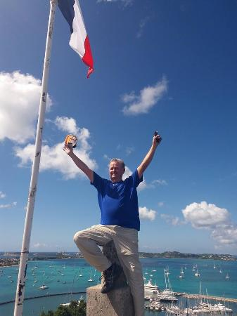 Oyster Pond, St. Martin: On top of the world!