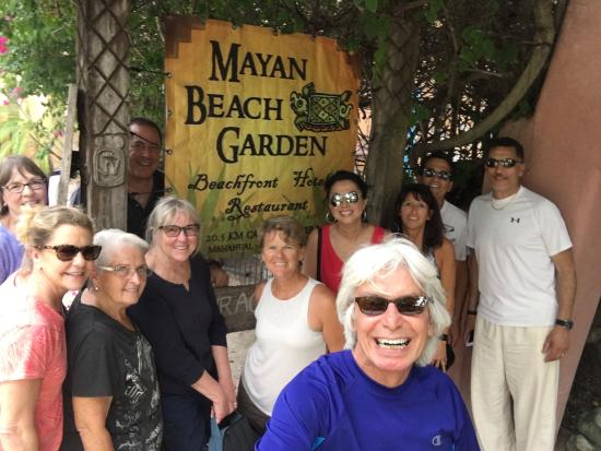 "Another beautiful day with Marcia at the ""Boutique Resort"" Mayan Beach Garden! What a lovely hos"