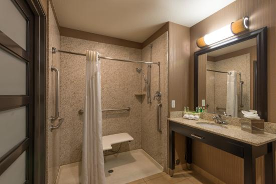 Brighton, CO: Contemporary ADA/Handicapped Roll In Shower