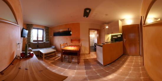 Landhaus Kitzbichler: Wohnung 1, Wohn-küche
