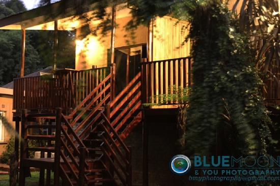 Sabie, Zuid-Afrika: Outbuildings at night
