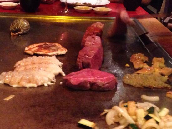 Japanese Village: Thank you Very Much!!!! I love all food! My cocktail So-chi, was so tasty!!! Стейк, соус, лобсте