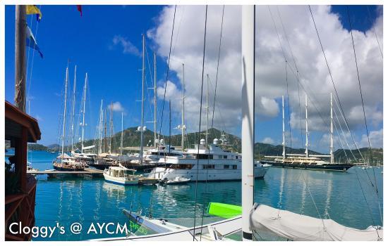 Falmouth, Antigua: Cloggys at the Antigua Yacht Club