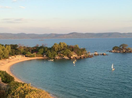 Likoma Island, Malawi: View of Kaya Mawa from the Hill