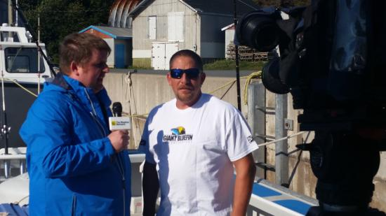 Antigonish, Canada: Capt. John Gavin being interviewed by The Weather Network for a segment on how the weather effec
