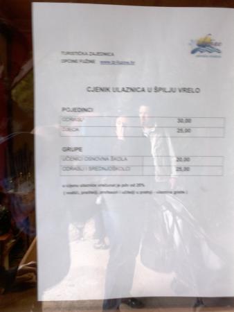 Fuzine, Kroatië: price for cave vrelo