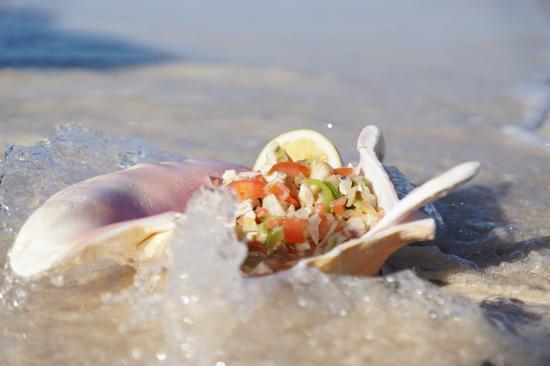 جيمز آت بارادايز ريزورت: Gems-Beach Conch Salad