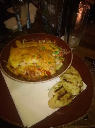Langbank, UK: open chicken and chorizo lasagne