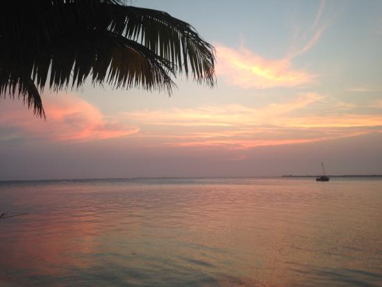 South Water Caye, Belize: sunset from the south point