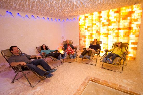 Salt room for halotherapy - Picture of The Rock Spa, Kitchener ...