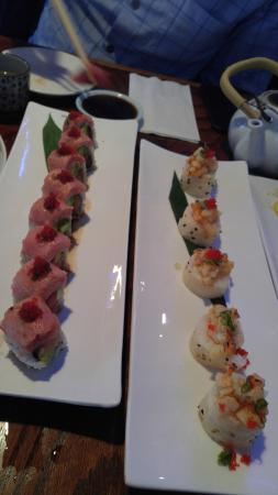 Fujiyama Sushi & Yakitori Bar: toro roll and baked scallops roll