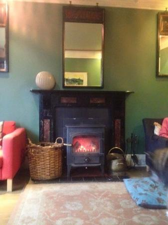 Closeburn, UK: Lounge with log burner