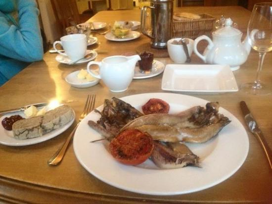 Closeburn, UK: Breakfast, kippers