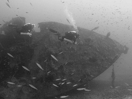 Atlantis Diving Center: The bow of the Southwold