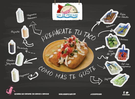 Los de Pescado Playa Del Carmen: Prepara tu taco como mas te guste