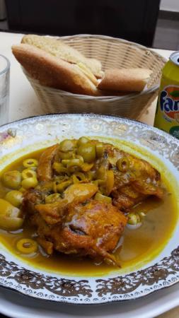 Restaurant Mamounia: Poulet aux olives