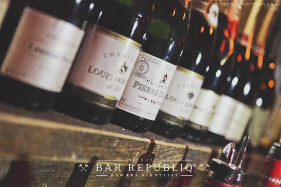 Bar Republiq: wide selection of bubllies for special occasions