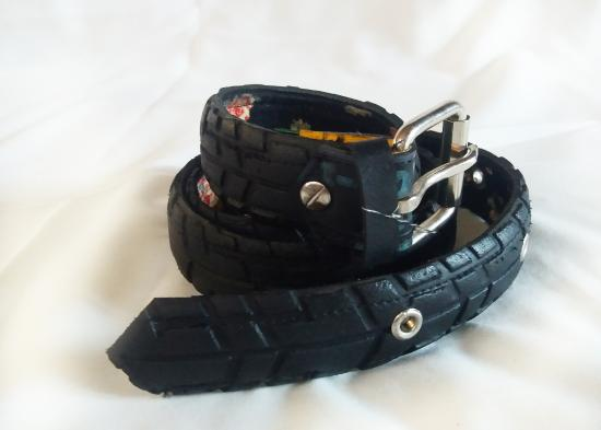 Genevieve's Fair Trade Village: Recycled tire belt