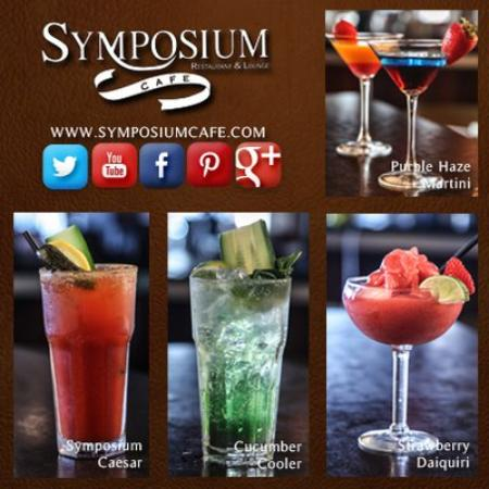Symposium Cafe Restaurant & Lounge: Speciality cocktails