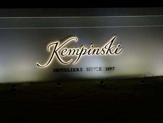 Kempinski Hotel Nay Pyi Taw: hotel sign at night