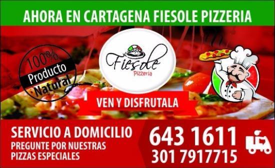 Fiesole Pizzeria: nuestras tarjetas