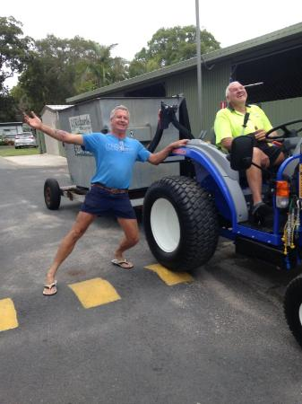 Woorim, Australia: new tractor makes for a happy Pop and Gary