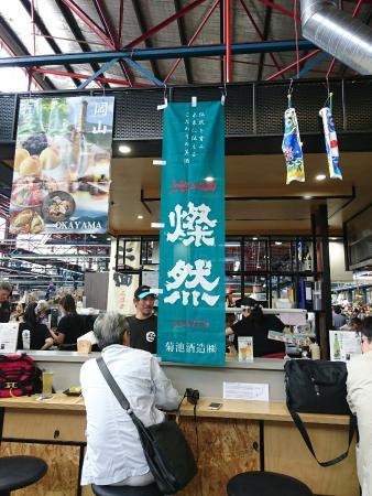 Wasshoi: マーケットの中にあるセントラルオープンキッチンカウンター。 メルボルンの中で、本当の日本の味を出しているのは、もしかしてココが一番かも。 (,,•﹏•,,)  Believe! this is