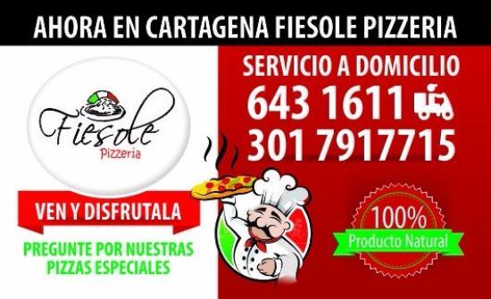 Fiesole Pizzeria: Tarjetas de Fiesole