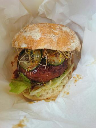 Wasshoi: Japanese style beef tsukune burger