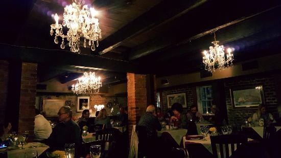 17 Hundred 90 Restaurant: Cranberry stuffed pork tenderloin, key lime pie and a cozy romantic atmosphere.