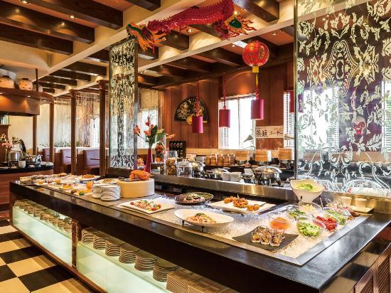 Oriental Hotel Tokyo Bay: 中国料理「チャイニーズ・テーブル」ブッフェカウンター