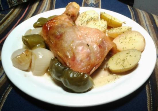 Resto Bar El Malevo: Delicioso pollo al horno