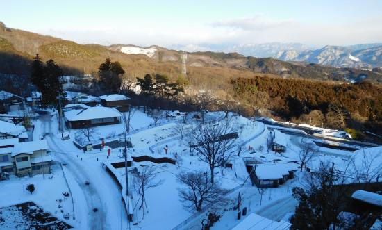 Ikaho Stone Steps: 雪の石段街(撮影1月22日頃)