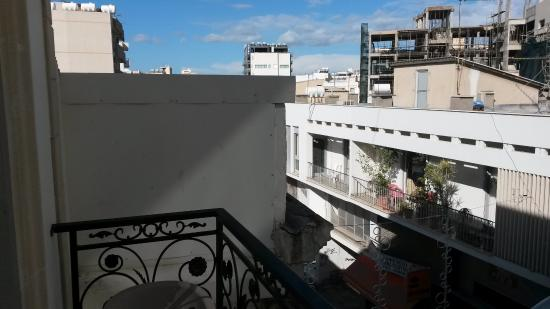 Lakis Court: View to the left from the bacony