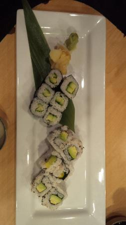 Glens Falls, Nowy Jork: Sushi appetizer: Cucumber and Avocado Rolls